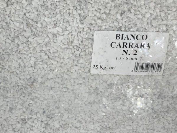 画像1: BEALSTONE 種石 BIANCO CARRARA  25Kg  N1 1-3mm (1)